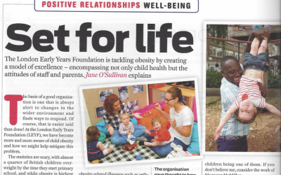 Nursery world Wellbeing in Action: Set for life
