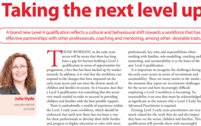 Early Years Educator: Taking the next level up
